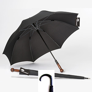 Unbreakable® Walking-Stick Umbrella - Premium Model, Straight with Knob Handle plus Crook Handle